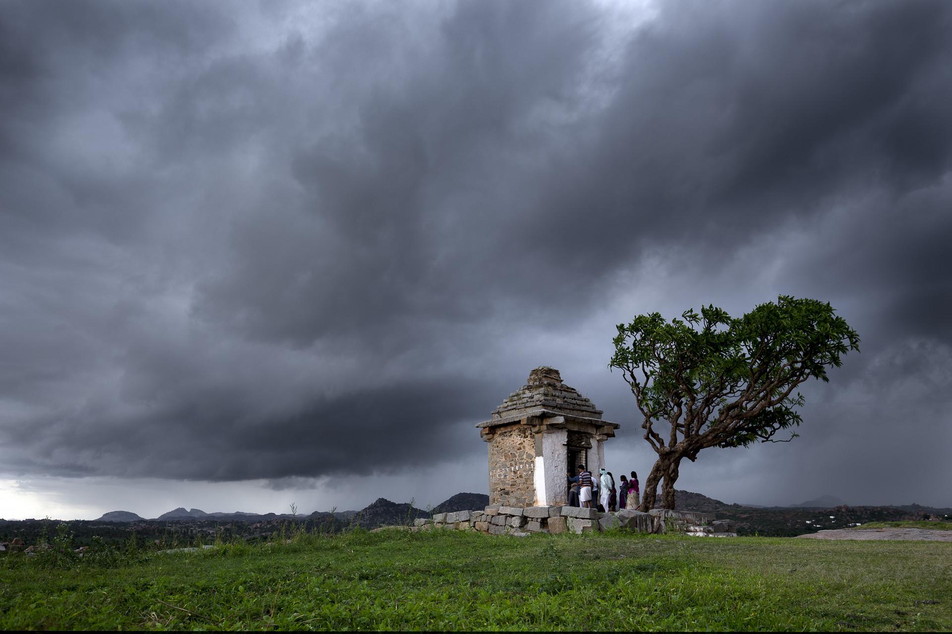 When dark clouds hover
